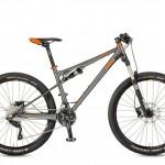 Bicicletas Modelos 2017 KTM MTB Full Suspension LYCAN 27 Código modelo: Lycan 274 3f Titangrey Matt Orange