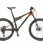 Bicicletas Modelos 2017 KTM MTB Full Suspension LYCAN 27 Código modelo: Lycan Master 12 Black Matt Orange