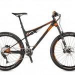 Bicicletas Modelos 2017 KTM MTB Full Suspension LYCAN 27 Código modelo: Lycan Master 2f Black Matt Orange