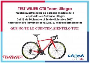 TEST BICICLETA WILIER GTR Team Ultegra 2018 Foto 1
