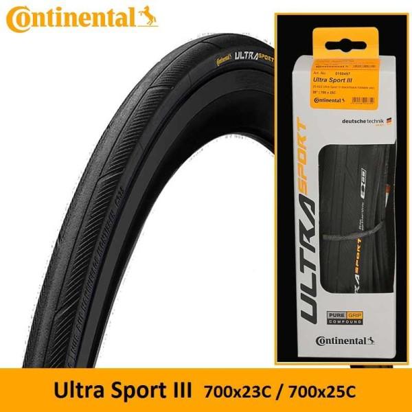 Continental Ultra Sport III 700x25 Plegable Foto 1