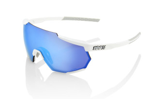 Tienda online Ofertas GAFAS 100 PERCENT RACETRAP MATTE WHITTE HIPER BLUE MULTILAYER MIRROR LENS