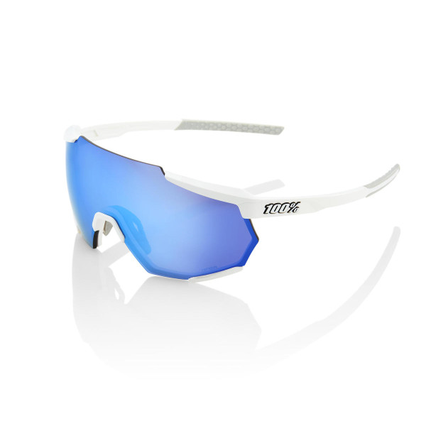 GAFAS 100 PERCENT RACETRAP MATTE WHITTE HIPER BLUE MULTILAYER MIRROR LENS Foto 1