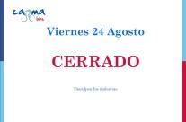 Viernes 24 agosto 2018 CERRADO
