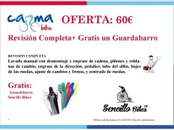 Ofertas y promociones Eventos y salidas Oferta: Guardabarros Gratis con Mantenimiento Completo