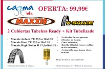 Juego Cubiertas Maxxis Tubeless Ready + Kit Tubelizado 99.99€