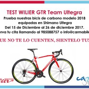 Eventos y salidas TEST BICICLETA WILIER GTR Team Ultegra 2018