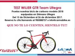 Eventos Eventos y salidas TEST BICICLETA WILIER GTR Team Ultegra 2018