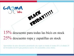 Ofertas y promociones Eventos y salidas Black Friday