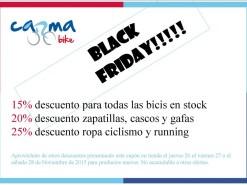 Ofertas y promociones Eventos y salidas Black Friday