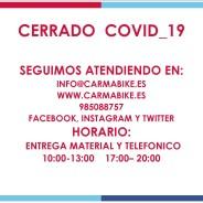 Eventos y salidas CERRADO COVID-19