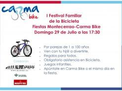 Eventos Eventos y salidas I FESTIVAL FAMILIAR DE LA BICICLETA FIESTAS DE MONTECERRAO-CARMA BIKE