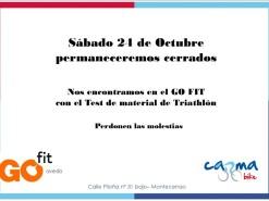 Eventos Eventos y salidas Sábado 24 de Octubre 2015 CERRADO