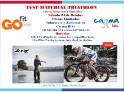 Eventos y salidas Eventos Test material triathlón