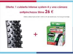 Eventos y salidas Ofertas y promociones Oferta: Cubierta Intense System4 y una cámara antipinchazos Slime 26€
