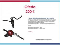Eventos y salidas Ofertas y promociones Oferta: Frenos Fórmula RX