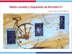 Ofertas y promociones Eventos y salidas Oferta: Lavado y Engrasado de bicicleta 5€